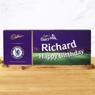 Personalised 850g Chelsea Dairy Milk Chocolate Bar