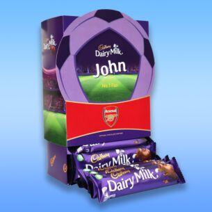 Personalised Favourites Arsenal Chocolate Bar Hamper