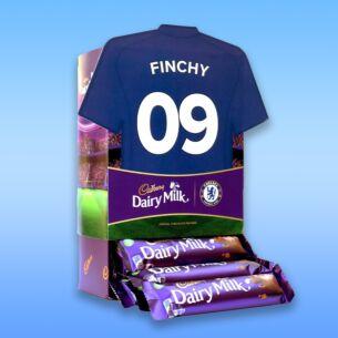 Personalised Favourites Chelsea Shirt Chocolate Bar Hamper