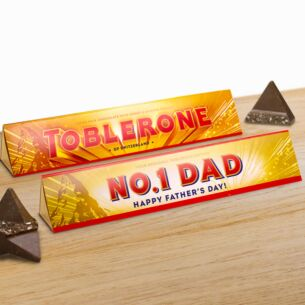 Personalised Toblerone Father's Day 360g Bar – Milk Chocolate