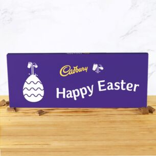 Personalised 850g Easter Dairy Milk Chocolate Bar