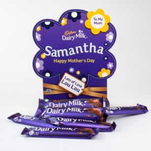 Personalised Dairy Milk Mother's Day Chocolate Bar Hamper