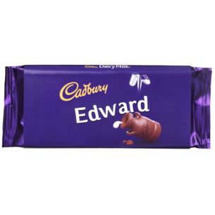 'Edward' 110g Dairy Milk Chocolate Bar