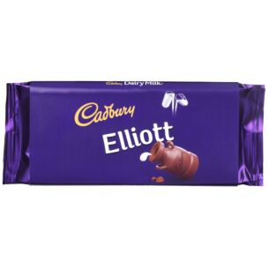 'Elliot' 110g Dairy Milk Chocolate Bar