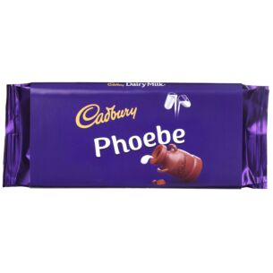 'Phoebe' 110g Dairy Milk Chocolate Bar