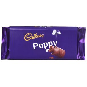 'Poppy' 110g Dairy Milk Chocolate Bar