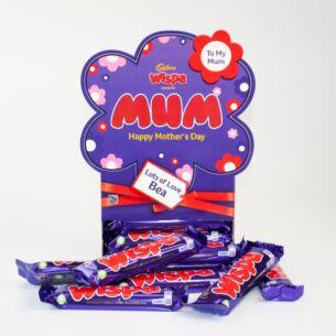 Personalised Wispa Mother's Day Chocolate Bar Hamper