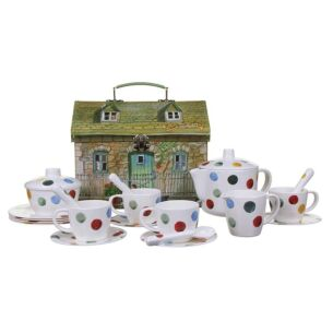 Polka Dot Childrens Melamine Tea Set