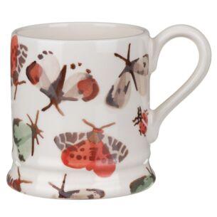 Butterflies and Bugs Half Pint Mug