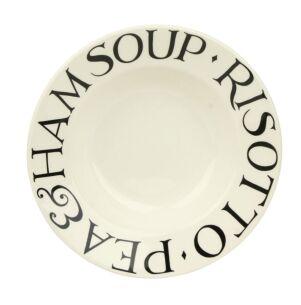 Black Toast Soup Plate
