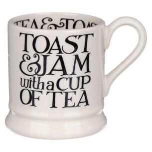 Black Toast Toast & Jam Half Pint Mug