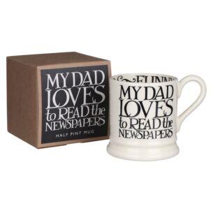 Black Toast 'My Dad Loves' Half Pint Boxed Mug