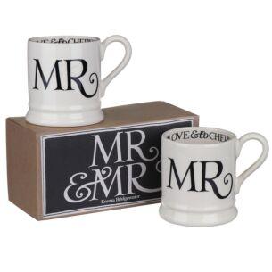 Black Toast Mr & Mr Boxed Set of Two Half Pint Mugs