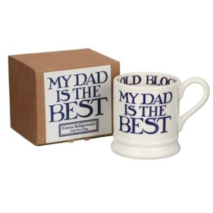 Emma Bridgewater Blue Toast & Marmalade My Dad Is The Best Half Pint Boxed Mug