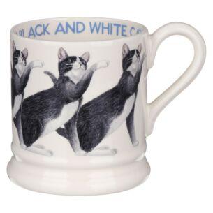 Cats Black & White Cat Half Pint Mug