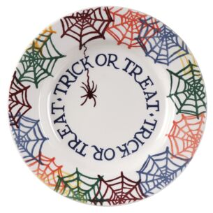 Cobwebs Trick or Treat 8 1/2 Inch Plate