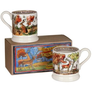 In The Woods Set of 2 Half Pint Mugs