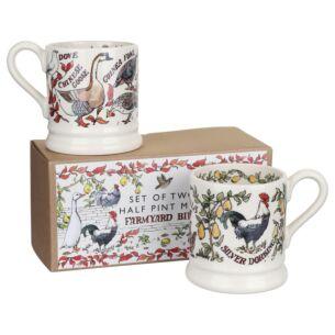 Farmyard Boxed Set Of Two Half Pint Mugs