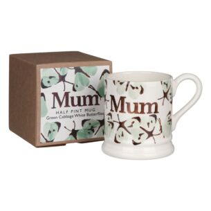 Green Cabbage White Butterfly Mum Half Pint Boxed Mug