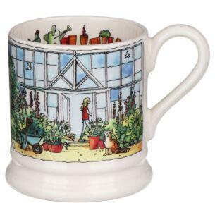 Setting Up Home Greenhouse Half Pint Mug