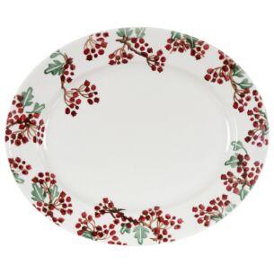 Hawthorn Berries Medium Oval Plate