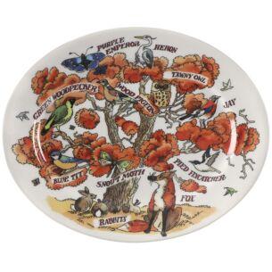 In An Oak Tree Small Oval Plate