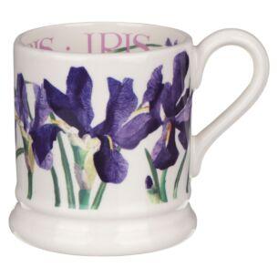 Flowers Blue Iris Half Pint Mug