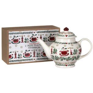 Christmas Joy Two Mug Teapot Boxed