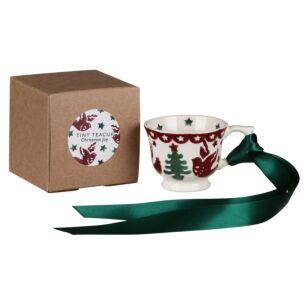Christmas Joy Tiny Teacup Boxed Tree Decoration