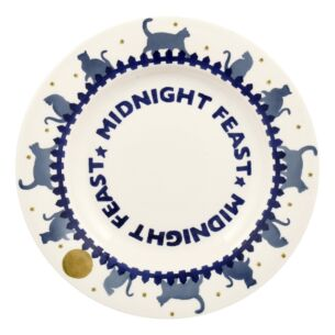 Midnight Cats Feast 8 ½ inch Plate