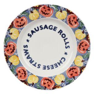 Midnight Pumpkins Sausage Rolls 8 ½ Inch Plate