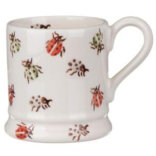 Orange Ladybirds Half Pint Mug