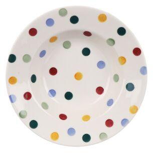 Polka Dot Soup Plate
