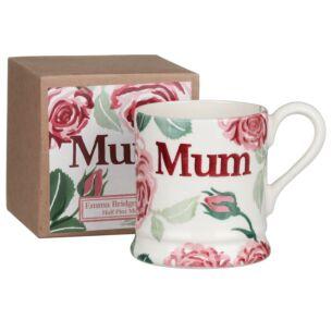 Pink Roses Mum Half Pint Boxed Mug