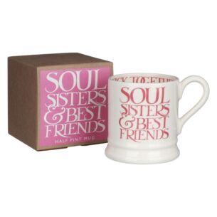 Pink Toast Soul Sisters Half Pint Boxed Mug