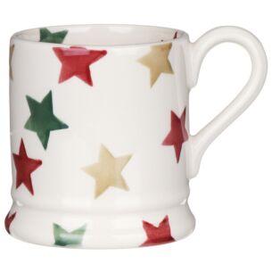 Red, Green & Gold Star Half Pint Mug