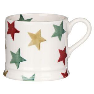Red, Green & Gold Star Small Mug