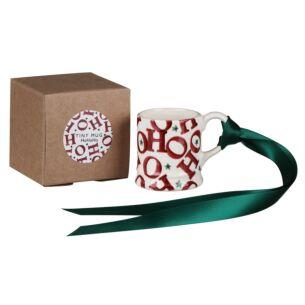 HOHOHO Tiny Mug Boxed Tree Decoration