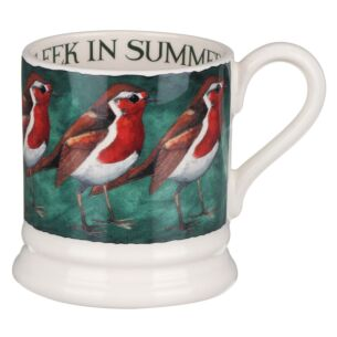 Emma Bridgewater Robin On The Green Half Pint Mug
