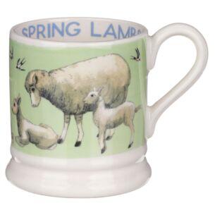Bright New Morning Spring Lambs Half Pint Mug