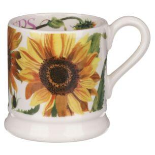 Flowers Sunflower Half Pint Mug