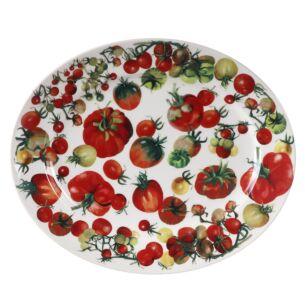 Vegetable Garden Tomatoes Medium Oval Platter