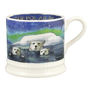 Winter Polar Bears Small Mug