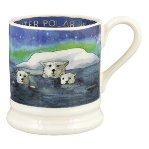 Winter Polar Bears Half Pint Mug