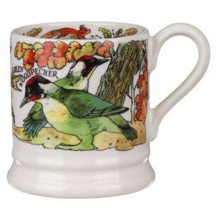 Green Woodpecker & Red Squirrel Half Pint Mug