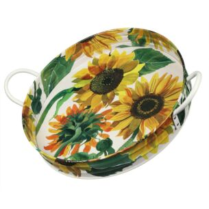 Flowers Large Handle Tray