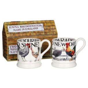 Rise & Shine Set of 2 Half Pint Mugs