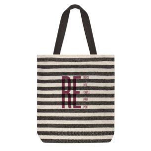 'Reduce' Striped Shopping Bag