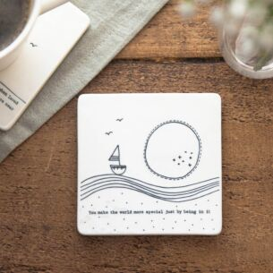 'Make The World More Special' Porcelain Square Coaster