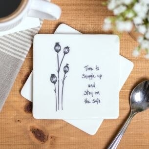 'Time To Snuggle' Floral Coaster